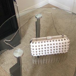 Forever 21 spiked boxed clutch